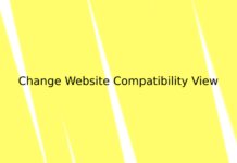 Change Website Compatibility View