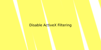 Disable ActiveX Filtering