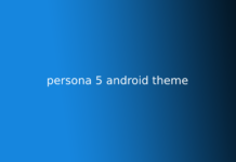 persona 5 android theme