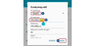 Android Fixed IP address - Solution