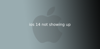 ios 14 not showing up