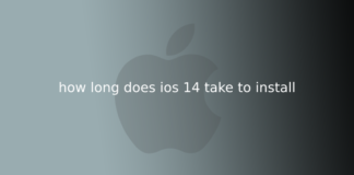 how long does ios 14 take to install
