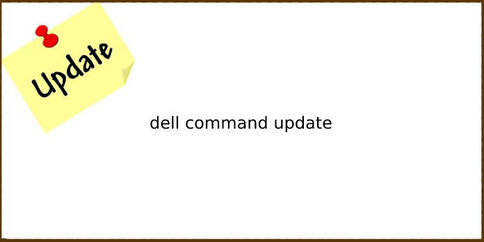 dell command update