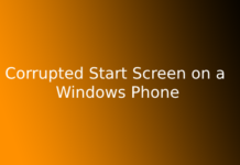 Corrupted Start Screen on a Windows Phone