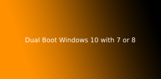 Dual Boot Windows 10 with 7 or 8