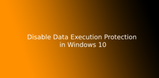 Disable Data Execution Protection in Windows 10