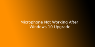 Microphone Not Working After Windows 10 Upgrade