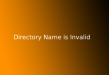 Directory Name is Invalid