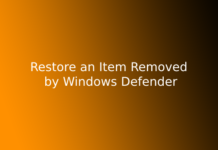 Restore an Item Removed by Windows Defender