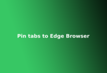 Pin tabs to Edge Browser