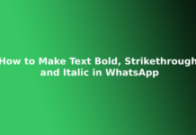 How to Make Text Bold, Strikethrough and Italic in WhatsApp