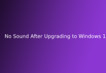 No Sound After Upgrading to Windows 10