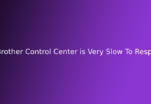 Brother Control Center is Very Slow To Respond