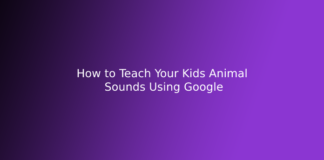 How to Teach Your Kids Animal Sounds Using Google