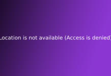 Location is not available (Access is denied)