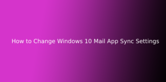 How to Change Windows 10 Mail App Sync Settings