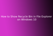 How to Show Recycle Bin in File Explorer on Windows 10