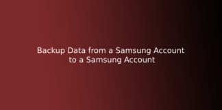 Backup Data from a Samsung Account to a Samsung Account