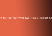 How to Find Your Windows 7/8/10 Product Keys