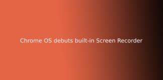 Chrome OS debuts built-in Screen Recorder