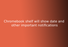 Chromebook shelf will show date and other important notifications