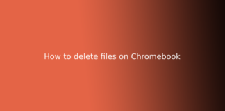 How to delete files on Chromebook