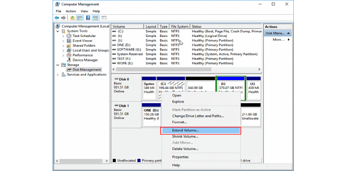 How to Resize C or Any Other Partition