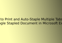 How to Print and Auto-Staple Multiple Tabs in a Single Stapled Document in Microsoft Excel