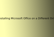 Installing Microsoft Office on a Different Drive