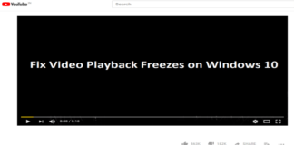 Windows 10 Video Freezes During Playback