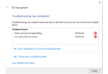 After upgrading to Windows 10, there are no audio devices available (Intel Chipset)
